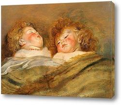 Два спящих младенца