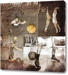 Картина Игроки в баскетбол