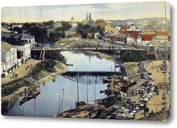Картина Река Пскова, рыбный ряд 1905  –  1909 ,  Россия,  Псковская область,  Псков