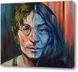 Картина Джон Леннон и Йоко Оно .