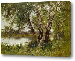 Картина Спокойный пейзаж реки