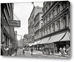 Картина Вашингтон-стрит на севере от храма Place, 1906
