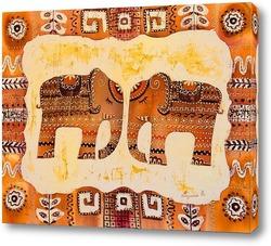 Картина Два слона