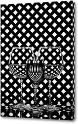 Картина Чёрно-белый этюд со стеклом