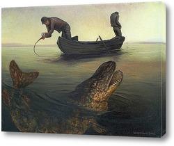 Картина На дальних забросах ловится крупная рыба