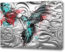Картина Колибри с цветком