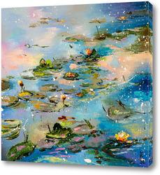 Картина Вечерний пруд
