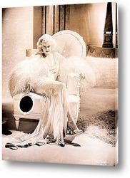 Картина Джин Харлоу сидящая в кресле,1931г.