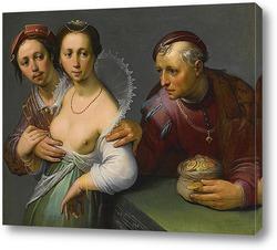 Картина Выбор между молодым и старым, 1597