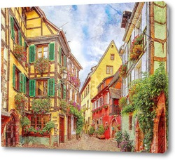 Картина Красочная улица во Франции