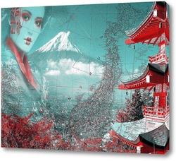 Картина Японская пагода