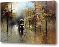 Картина Трамвайчик в осень
