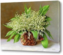 Картина Ландыши в корзинке