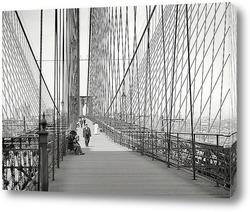 Картина Манхэттен и Бруклинский мост, 1907