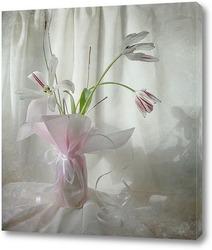 Утро с тюльпанами