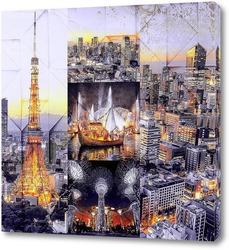 Картина Ночной Токио