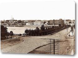Картина Вид на Тарасовскую набережную,Екатеринбург 1880
