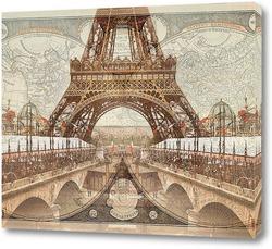 Картина Ретро Париж