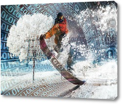 Картина Прыжок на сноуборде