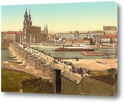 Картина Старый город, Дрезден, Саксония, Германия 1890-1900 гг