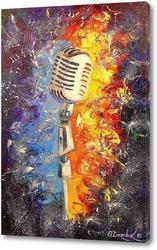 Картина Музыка с микрофона