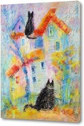 Картина Городские коты