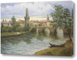 Картина Прага. Юдинцев А.В.(1952-2000)