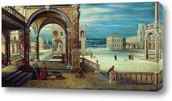 Двор ренессанского дворца