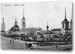 Картина Вологда,центр города