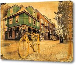 Картина Желтый велосипед