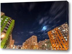 Картина Ночная жизнь города
