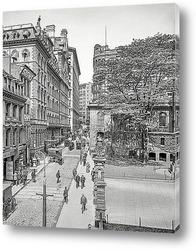 Картина Бостон, Массачусетс. Улица Школьная и Parker House, 1906