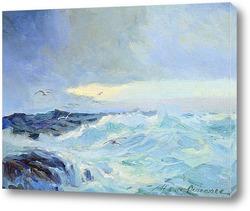 Картина Морской пейзаж с чайками