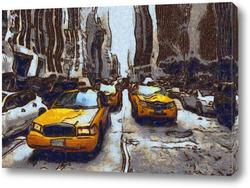 Картина Такси Нью-Йорка