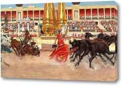 Картина Гонки на колесах в цирке