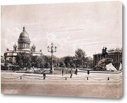 Картина Исакиевский собор и Медный всадник 1907  –  1912 1912 Россия 1912 Санкт-Петербург 1912 Адмиралтейски