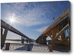 Картина Коммунальный и метромост в Новосибирске