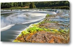 Водопад в Латвии