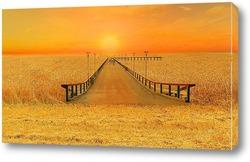 Мост через море пшеницы