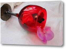Картина орхидея в бокале