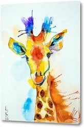 Радостный жираф