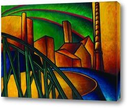 Картина Индустриальный пейзаж