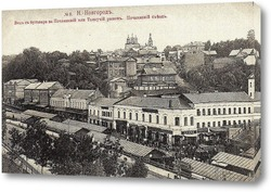 Картина Вид с бульвара на Почаинский или Толкучий рынок. Почаинский съезд 1905  –  1915