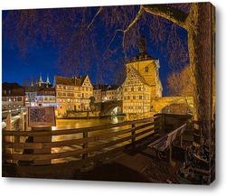 Картина Вечерний город