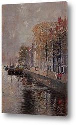 Картина Амстердам , 1891