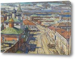 Картина Вид на церковь Святого Иоанна Крестителя от Рождественской улицы, Нижний Новгород