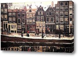 Картина Лори канал Амстердам. 1895.