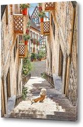 Картина Цветущие улочки