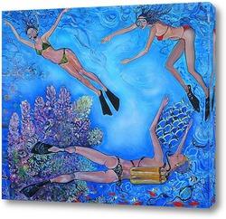 Картина Девушки-рыбы