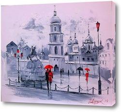 Картина Софиевская площадь в Киеве